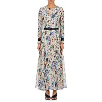 Giorgio Armani Women's Painterly Flower Print Silk Maxi Dress No Color