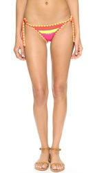Same Swim The Tease Tie Side Bottoms Orange Papillon