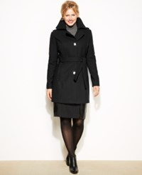 Kenneth Cole Reaction Plus Size Wool Blend Belted Trenchcoat