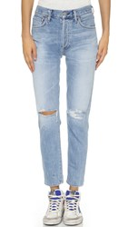 Citizens Of Humanity Liya High Rise Classic Fit Jeans Torn