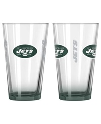 Boelter Brands New York Jets Elite Glass Pint 2 Pack