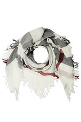 Burberry Shoes And Accessories Printed Merino Wool Scarf Multicolor
