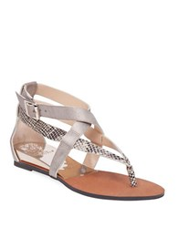 Vince Camuto Addney Strappy Leather Sandals Gold Tan