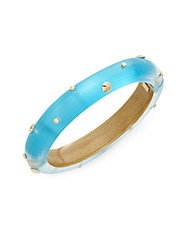 Alexis Bittar Lucite Studded Bangle Bracelet Turquoise