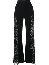 Jonathan Simkhai Lace Panel Trousers Black