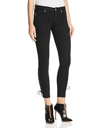 Hudson Suki Lace Up Ankle Jeans In Black