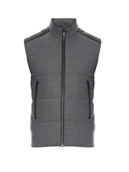 Vince Quilted Wool Blend Gilet