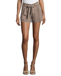 On The Road Belted Mid Rise Shorts Brown