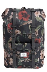 Herschel Supply Co. 'Little America Mid Volume' Backpack Black Hawaiian Camo