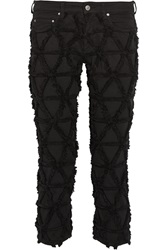 Isabel Marant Wild Origami Patchwork Mid Rise Skinny Jeans Black