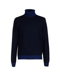 Altea Knitwear Turtlenecks Men Dark Blue