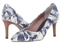 Rockport Total Motion 75Mm Pointy Toe Pump Blue Floral High Heels Multi