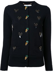 Muveil Embellished Cardigan Black