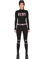 Gcds Embroidered Cotton Jersey Bodysuit