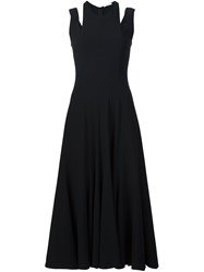 Tome Cut Out Godet Dress Black