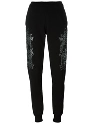 Philipp Plein Butterfly Skull Track Pants Black