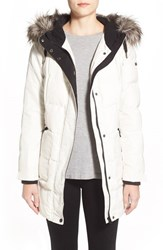 Women's Bernardo 'Expedition' Quilted Parka With Faux Fur Trim