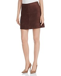 Sanctuary Easy Mod Faux Suede Skirt Rich Chocolate