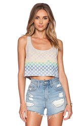 Mara Hoffman Beaded Crop Top Tan
