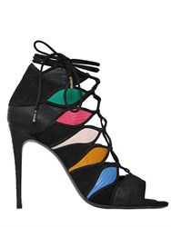 Salvatore Ferragamo 105Mm Suede Lace Up Sandals