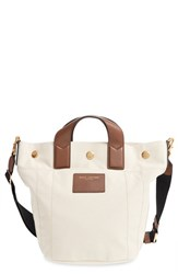 Marc Jacobs 'Mini Paratrooper' Canvas Tote White Ecru Multi