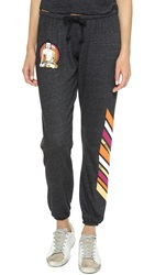 Spiritual Gangster Buddha Stripe Sweatpants Vintage Black