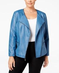 Alfani Plus Size Faux Leather Moto Jacket Only At Macy's Global Blue