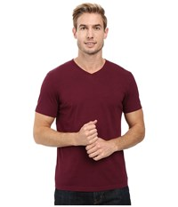 Mod O Doc Del Mar Short Sleeve V Neck Tee Wine Men's T Shirt Burgundy