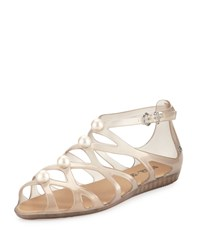 Melissa Shoes Violatta Pearly Caged Jelly Sandal Gold
