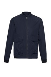 French Connection Men's Hornfell Wax Zip Up Jacket Blue