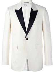 Saint Laurent Monochrome Smoking Jacket White