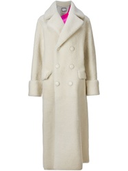 Toga Double Breasted Long Coat White