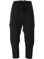 Lost And Found Ria Dunn Drawstring Tapered Cropped Trousers Black