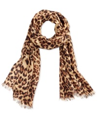 Style And Co. Animal Oblong Wrap Champagne