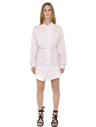 Isabel Marant Ruffled Cotton Poplin Shirt Dress