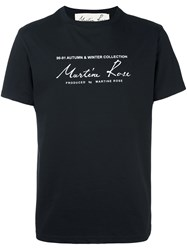 Martine Rose 'Classic Logo' T Shirt Black