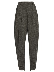 Hillier Bartley High Rise Carrot Leg Checked Trousers Grey Multi
