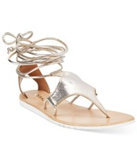 Diba True Strappy Gladiator Flat Sandals Women's Shoes Gold