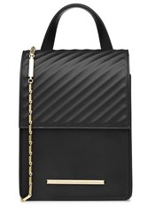 Roland Mouret Leather Shoulder Bag Black
