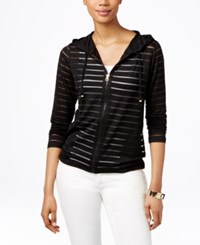 Inc International Concepts Illusion Striped Hoodie Only At Macy's Deep Black