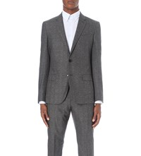 Reiss Morrow Slim Fit Wool Blazer Charcoal