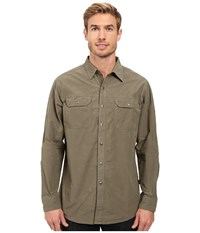 Kuhl Kompakt Long Sleeve Shirt Gun Metal Men's Long Sleeve Button Up Gray