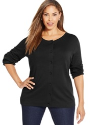 Karen Scott Plus Size Button Front Knit Cardigan Only At Macy's
