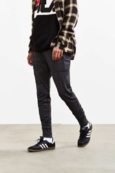 Urban Outfitters Uo Ribbed Stacked Skinny Knit Pant Washed Black