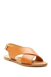 House Of Harlow Izzy Flat Leather Sandal Brown