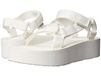 Teva Flatform Universal Bright White Women's Sandals