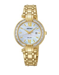 Seiko Ladies Goldtone Stainless Steel Solar Bracelet Watch