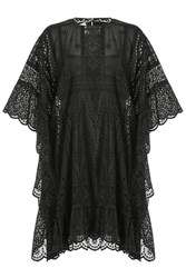 Valentino Cotton Dress With Cut Out Detail Black
