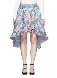 Jourden Hologram Jacquard Bias Cut Midi Skirt Multi Colour
