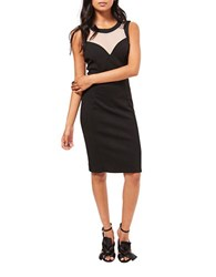 Miss Selfridge Two Tone Sleeveless Bodycon Dress Black